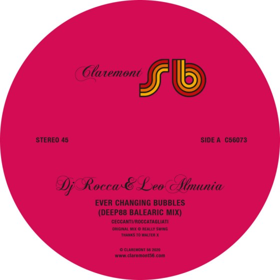 DJ Rocca & Almunia - Ever Changing Bubbles (Deep88 Balearic remix) [Claremont 56]