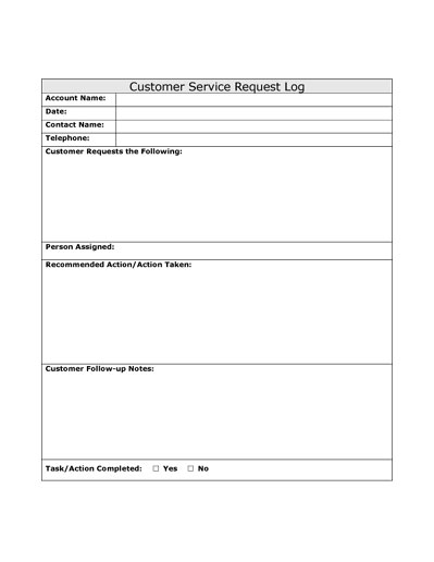 Company Forms 2 - service request form