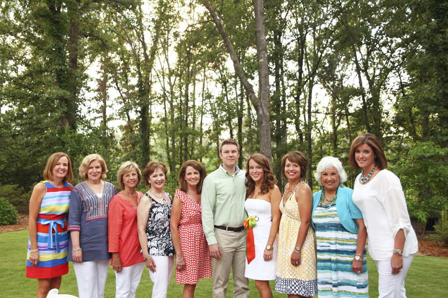 with the hostesses of our engagement party in texarkana [photo by kendal dockery]