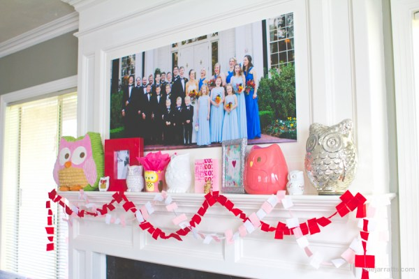 Valentine's mantle 2013