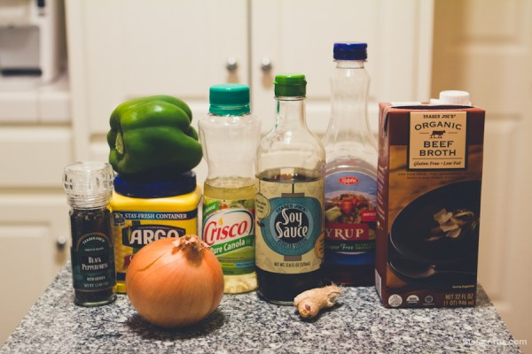 The ingredients (sans the pork)