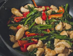 chicken-and-veggie stir-fry