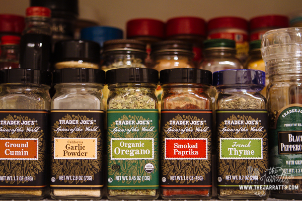 we also reorganized the spice cabinet. perhaps we have too many or need a larger cabinet.