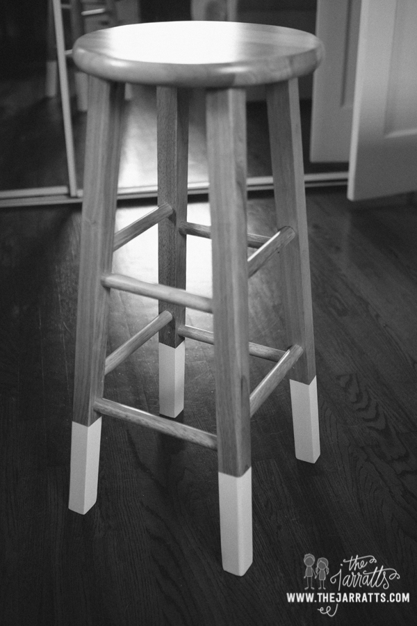 Raised the drafting table to standing height, got a stool for it and dip painted the legs.