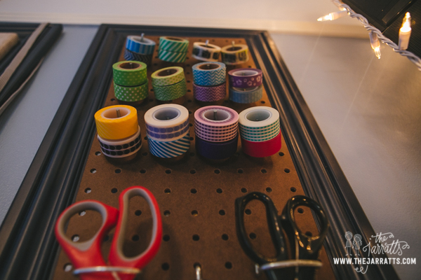 home office work space | washi tape organization | thejarratts.com