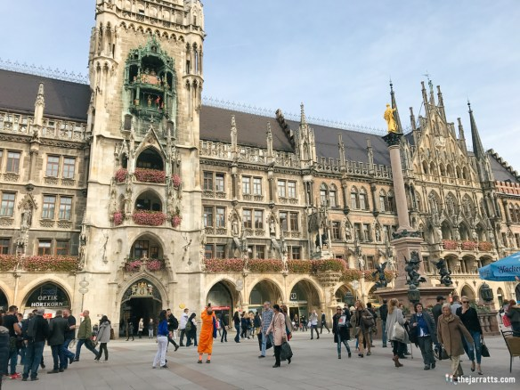 The 'new' Rathaus (town hall) opened in 1874