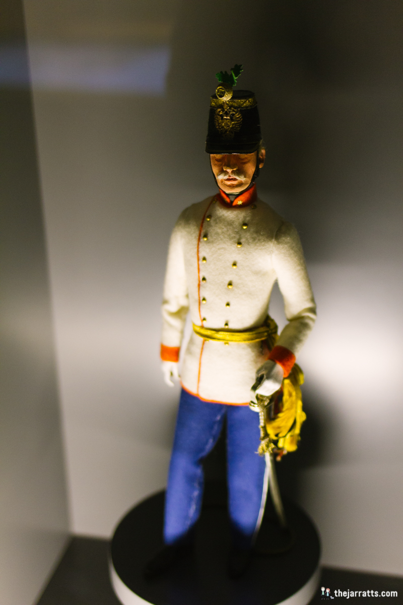 Rainer Regiment uniforms in miniature
