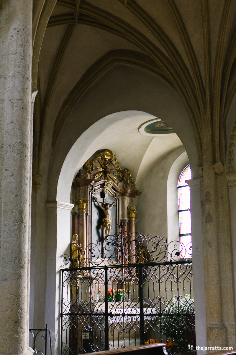 inside nonnberg abbey