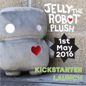 Jelly The Robot Plush Kickstarter Launches This Weekend!