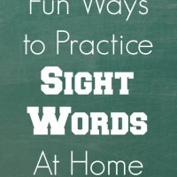20+ Fun Ways to Practice Sight Words at Home