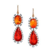 Fire opal earrings   Irene Neuwirth   The Jewellery Editor