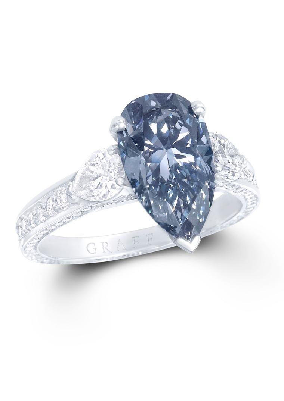 Large Of Blue Diamond Ring