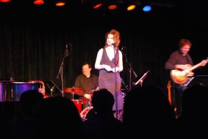 Sandra Bernhard on stage at the Ark in Ann Arbor