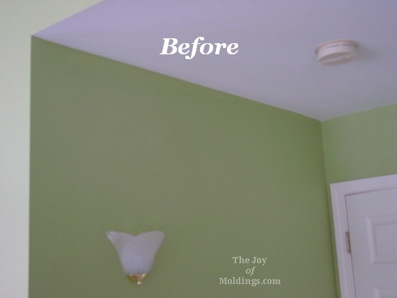 Before & After: Ornate Crown Molding In Master Bedroom - The Joy