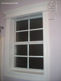 Before & After: Will's Bathroom Window Trim - The Joy of ...
