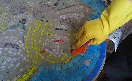 Grouting The Mosaic Mermaid