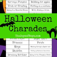 Halloween Charades: Free Printable Halloween Game