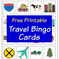 Free Printable Travel Bingo Cards