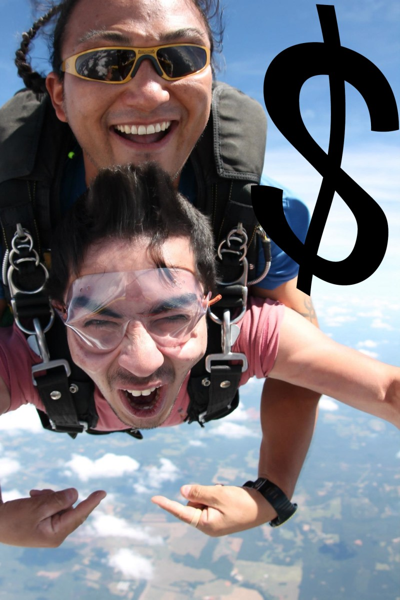 Tandem Skydive Pricing
