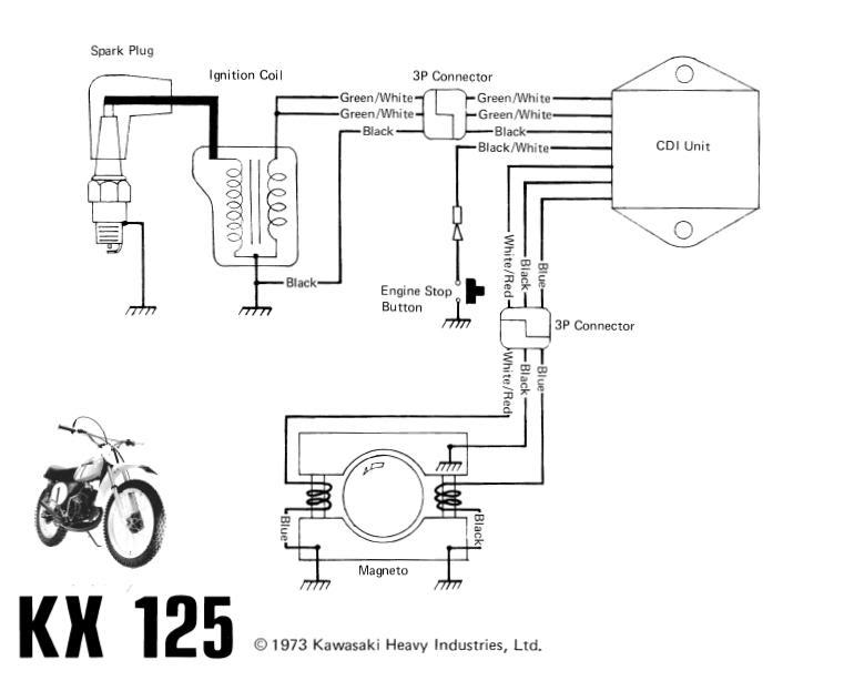 kawasaki hd3 125 cdi wiring diagram