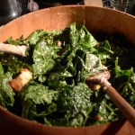 NYC Birthday Kale Caesar Salad