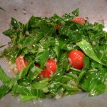 Collard Greens with Tomatoes & Basil