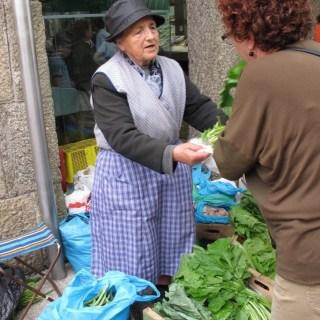 Kale for sale in Santiago de Compostella