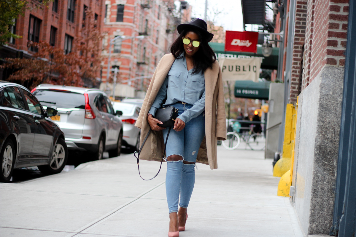 Canadian Tuxedo: Denim On Denim Topshop Jamie Ripped Moto Jeans