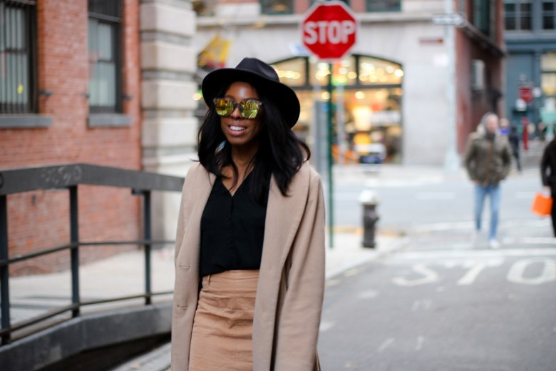 Marsquest Sunglasses and Vintage Felt Fedora from Zaful