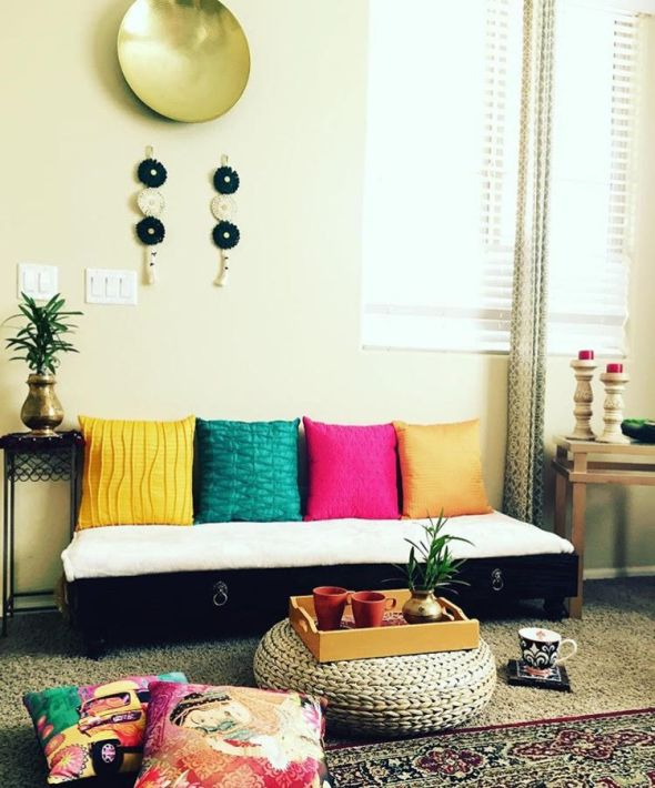 Shweta and harshad s ethnic global style home in arizona for Beautiful home decor items