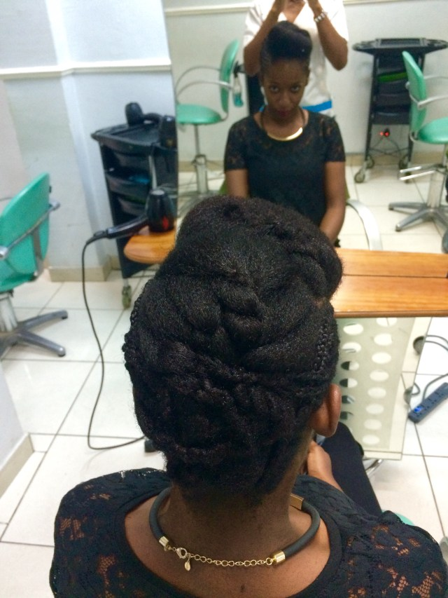 Simple Natural Hair Updo