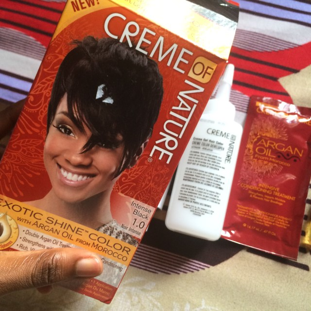 Creme of Nature with Argan Oil- Good Hair Dye- Intense Black