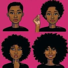 Natural Hair Collage- Healthy Hair Will Grow