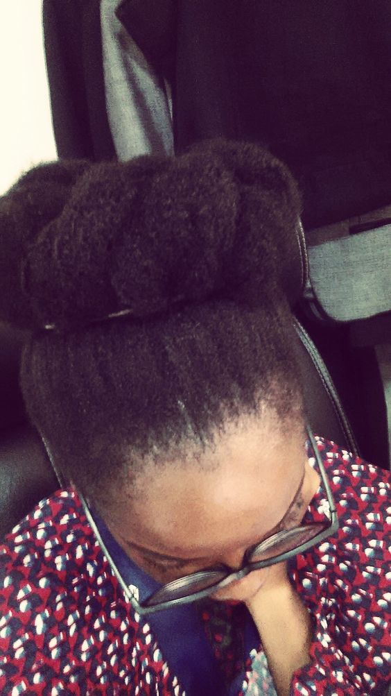 The Kink and I- Lush 4C Natural Hair Cinnabun