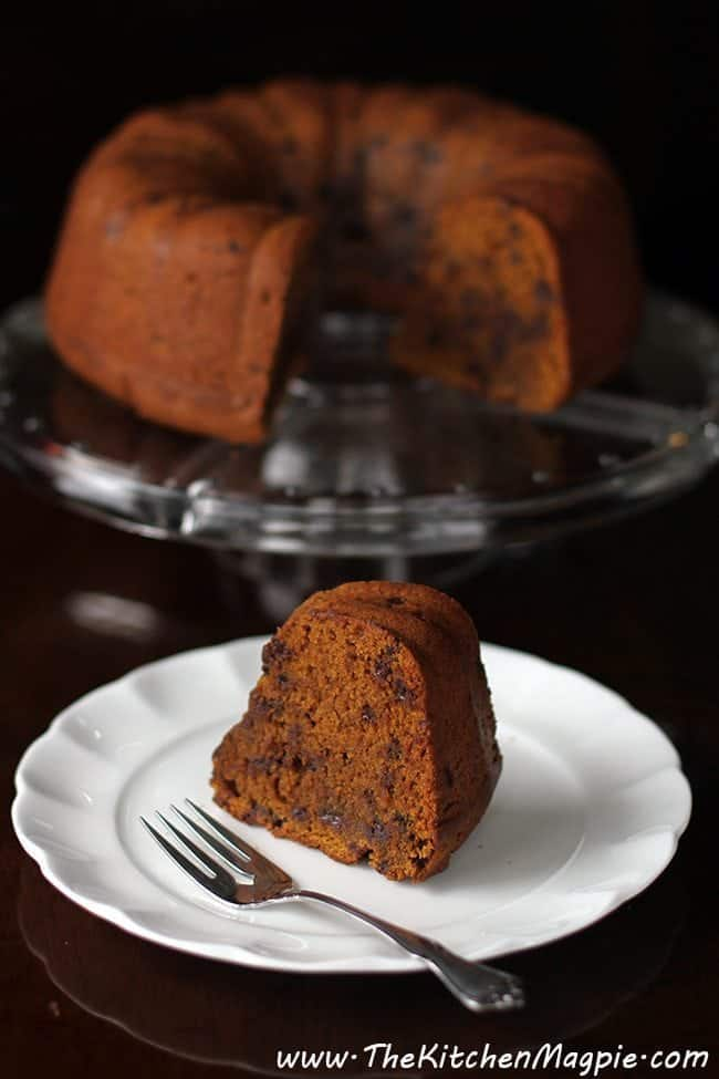 Chocolate Chip Pumpkin Bundt Cake