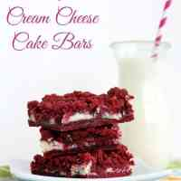 Cream Cheese Filled Red Velvet Cake Bars