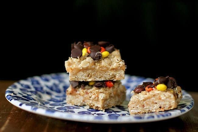 Peanut Butter & Oatmeal Dream Bars