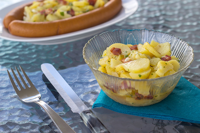 Warm German Potato Salad (Kartoffelsalat) • The Kitchen Maus