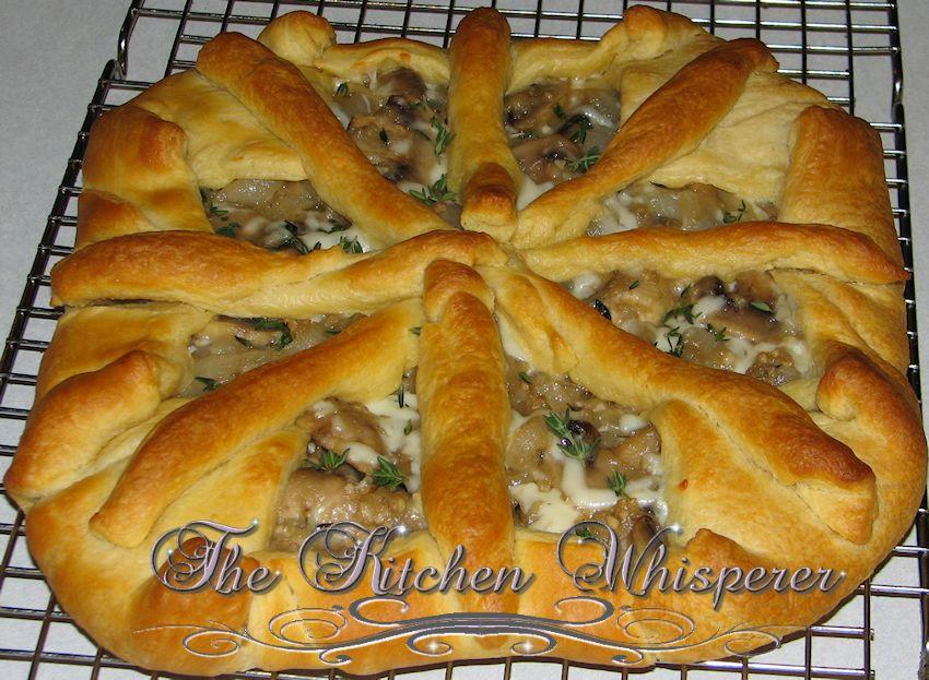Savory Caramelized Onion, Mushroom and Thyme Tart