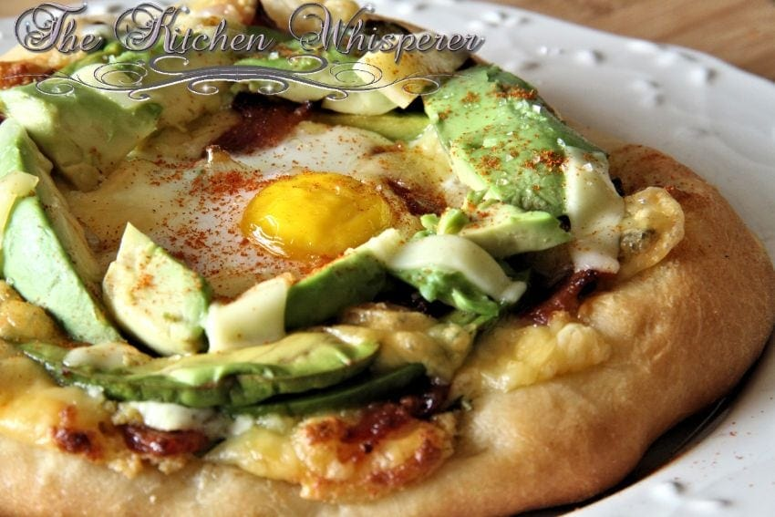 Jarlsberg Avocado Breakfast Pizza with Hollandaise Sauce-2