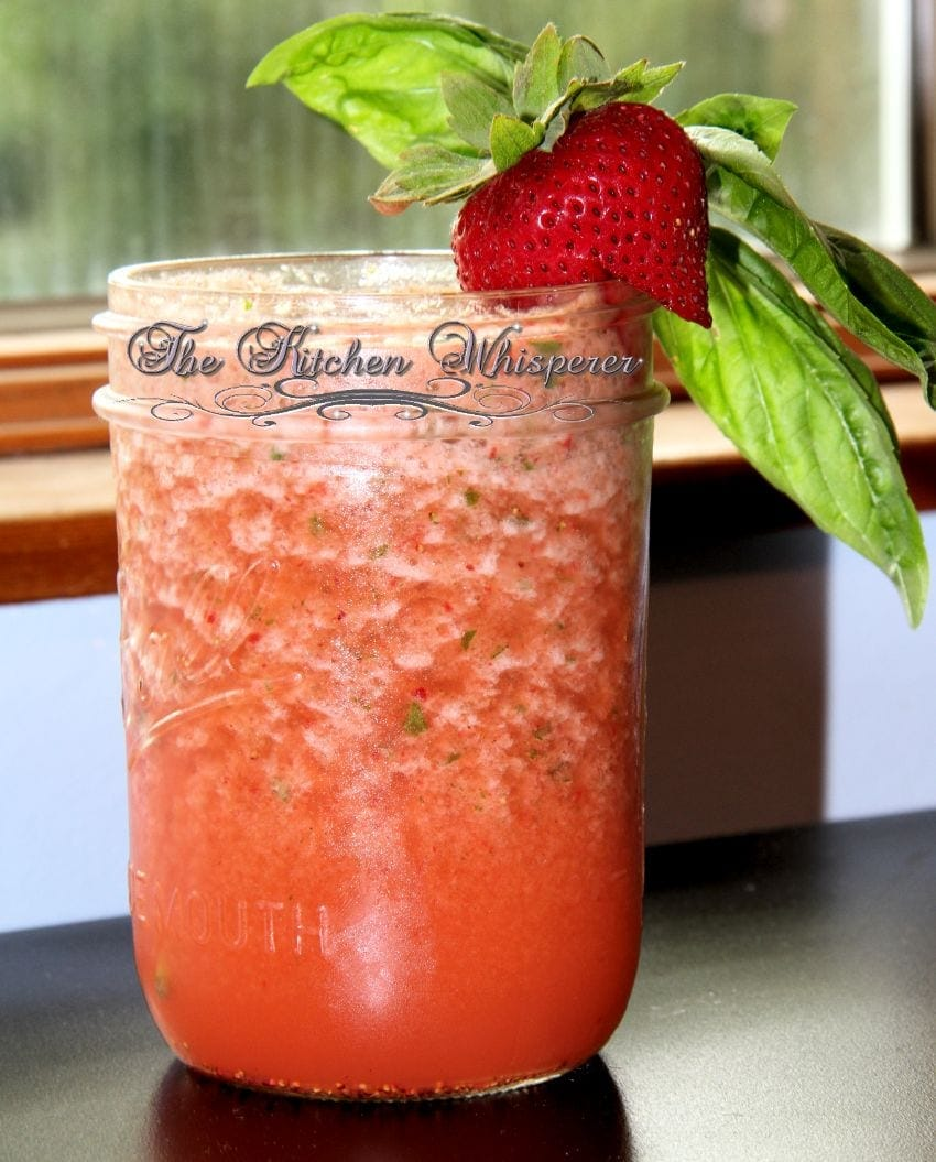 Strawberry Basil Lemonade Chiller – Spiked and Kid Friendly