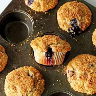 Crunchy Top Blueberry Muffins