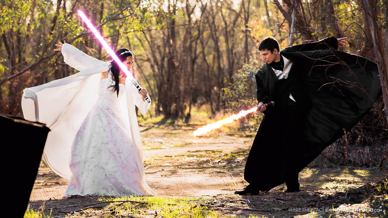 star wars wedding budget lightsaber battle star wars wedding bands Star Wars Wedding