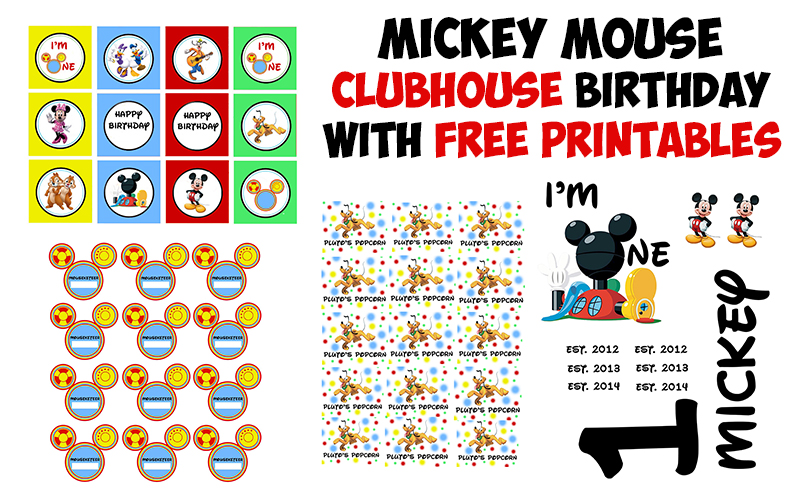 Mickey Mouse Clubhouse Birthday Party with Printables - The Kreative