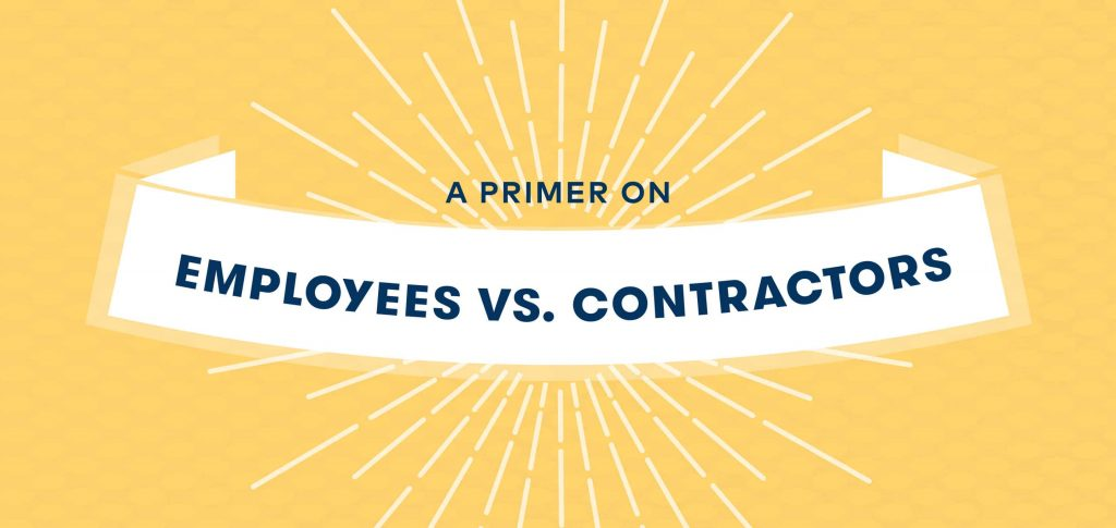 Employee or Independent Contractor? - - employee or independant contractor