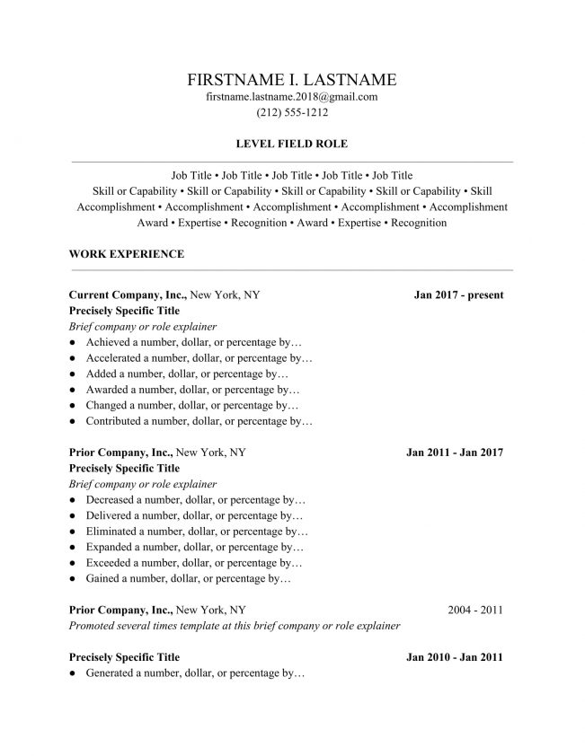 Ladders 2019 Resume Guide - Professional Resume Templates Ladders