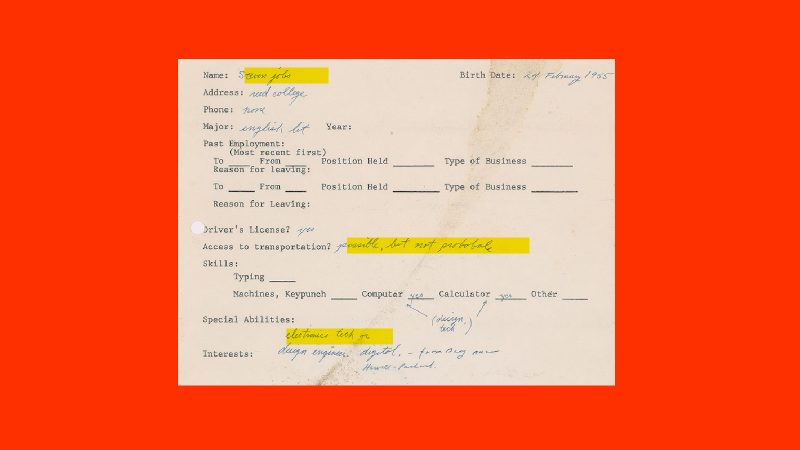 This Steve Jobs 1973 job application was so bad you literally won\u0027t - Job Application