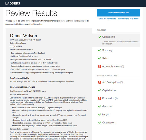Get Our Free Resume Review in 35 Seconds or Less Ladders - free resume review