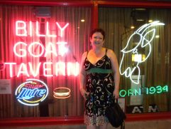 Tammy at the Billy Goat Tavern, Chicago.