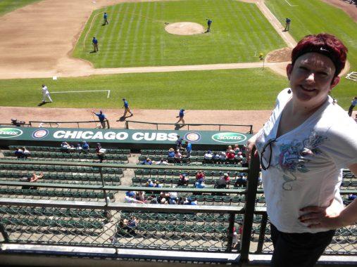 Tammy at Wrigley Field, Chicago.